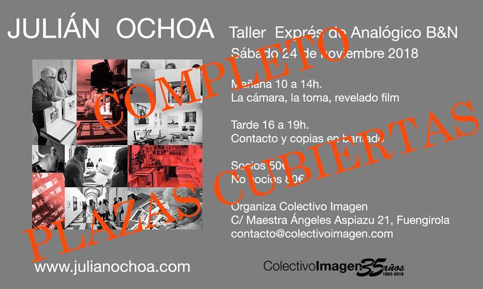 Taller Express de Analógico B/N, por Julián Ochoa