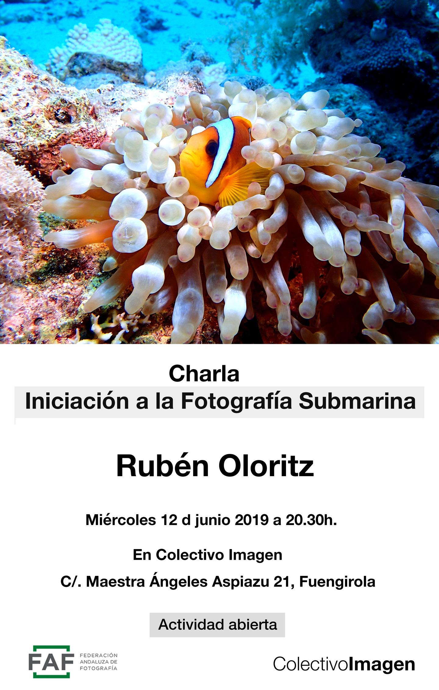 Iniciación a la fotografía submarina, Rubén Oloritz