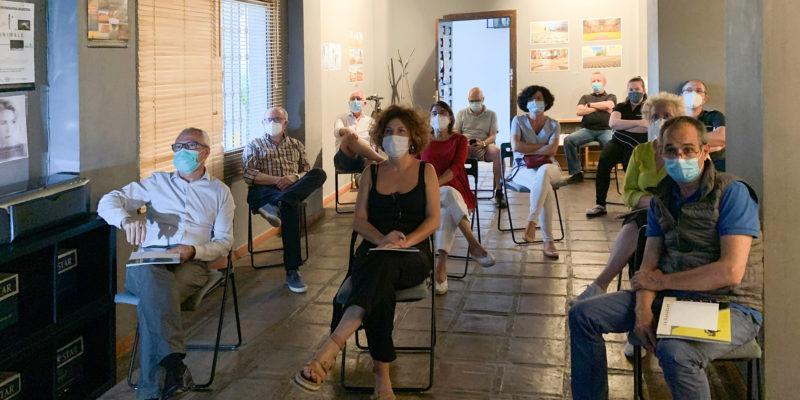 Jurado y público del fallo del concurso Cronikas de una Pandemia